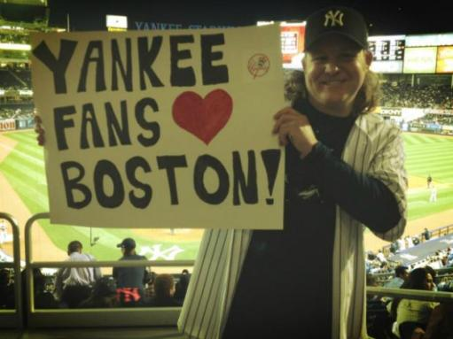 Boston fans love yanks