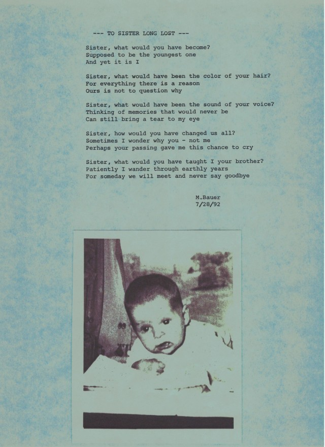 To Sister Long Lost Poem Photo