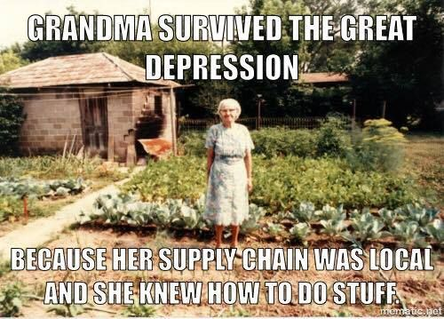 grandma survived the great depression meme